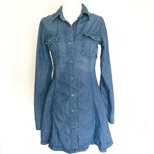 ABERCROMBIE & FITCH Chambray Long Sleeve Dress